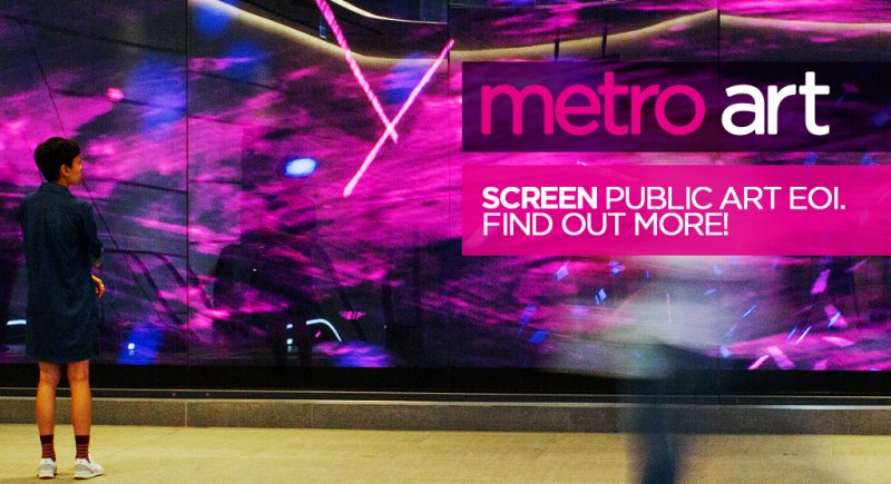 Metro Art screen-based public artwork expression of