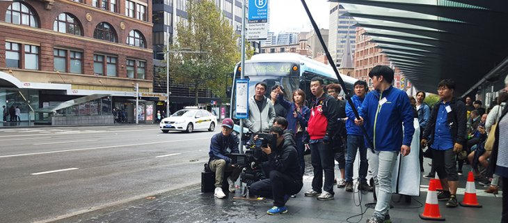 South Korean co-production, A Single Rider, begins shooting in Sydney.