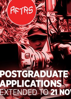 AFTRS Masters and Graduate Certificates Deadline extended to 21 November